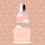 Wedding cake. Vector illustration with wedding cake Royalty Free Illustration
