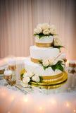Wedding cake. At the reception Stock Photos