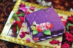 Wedding cake. Colorful Indian style wedding cake royalty free stock photos