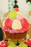 Wedding cake. Colorful wedding cake closeup at reception Royalty Free Stock Photography