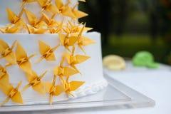 Wedding cake. Wedding yellow Qianzhi Royalty Free Stock Photos