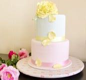 Wedding cake. Decorated with fondant Royalty Free Stock Images