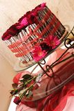Wedding cake. With roses Stock Image