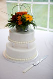 Wedding Cake. With Flowers and other Decorations Royalty Free Stock Photography