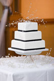 Wedding Cake. With ribbon and other Decorations royalty free stock photos