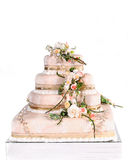 Wedding cake. Beautiful wedding cake to celebrate that special day Stock Images