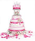 Wedding cake. Beautiful wedding cake to celebrate that special day Stock Image