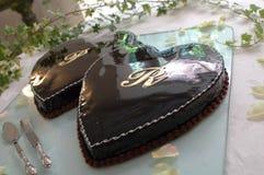 Wedding Cake. Photo of a wedding cake of chocolate stock photos