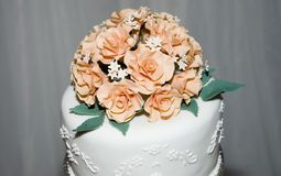 Wedding Cake. Top part of a wedding cake Royalty Free Stock Image