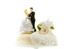 Wedding cake. Detail of traditional wedding cake Stock Photo