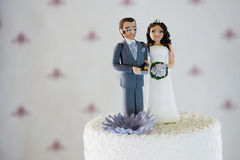 Wedding Cake. A white wedding cake with a blurry background - easy to isolate Royalty Free Stock Image