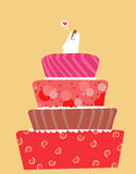 Wedding cake. Vector of a beautiful wedding cake Royalty Free Stock Image