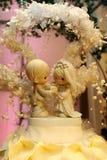 Wedding Cake. Top of a wedding cake stock photo