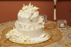 Wedding cake. Intricate and interesting Wedding cake Stock Photo