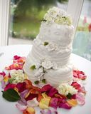 Wedding cake. On table Stock Image