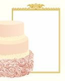 Wedding Cake Background. This decoration for your holiday or sweet menu Royalty Free Stock Photo
