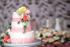 A wedding cake stock image