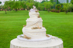 outdoor wedding cake Royalty Free Stock Photos