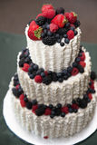 Wedding Cake with Berries Stock Photography