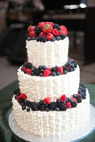 Wedding Cake with Berries Stock Images