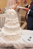 Wedding cake. Big wedding cake on ceremony Stock Photo