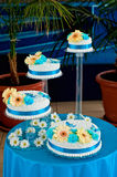 Wedding cake in blue style Royalty Free Stock Images