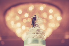 Wedding Cake with bokeh background Stock Images
