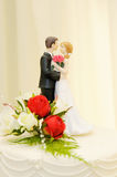 Wedding cake bride and groom Royalty Free Stock Photography
