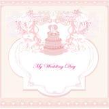 Wedding cake card design Stock Photo