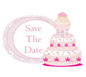 Wedding cake card design Royalty Free Stock Photography