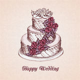 Wedding cake card Royalty Free Stock Photo