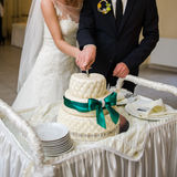 Wedding cake. Wedding ceremony. Decor trends Stock Photography