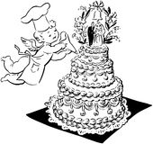 Wedding Cake And Cherub Royalty Free Stock Photo