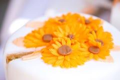 Wedding cake  close-up Stock Images