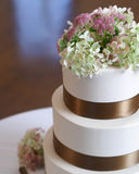 Wedding cake closeup. Royalty Free Stock Images