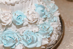 Wedding cake, cake for a wedding. Closeup Royalty Free Stock Image