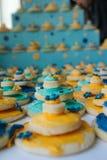 Wedding cake cookies Royalty Free Stock Photo