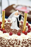 Wedding Cake with Couple stock photos