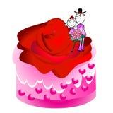 Wedding cake with couple Stock Image