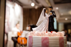 Wedding cake with couple. Wedding cake - couple`s wedding dance Royalty Free Stock Photography