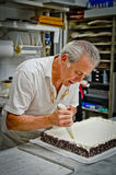 Wedding cake creation Royalty Free Stock Images