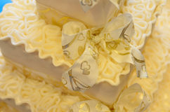 Wedding cake decoration Royalty Free Stock Images