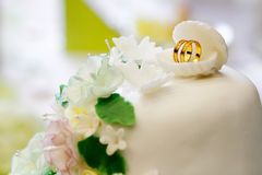 Wedding cake detail Stock Photography