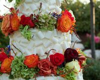 Wedding cake detail royalty free stock photo