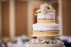 Wedding cake details Royalty Free Stock Images