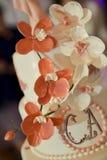 Wedding cake details Stock Image