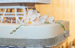 Wedding cake with details Royalty Free Stock Images