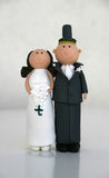 Wedding Cake Dolls. Fynny Wedding Cake Dolls with round head Royalty Free Stock Image