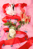 Wedding cake dolls, rose Stock Photography