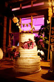 Wedding Cake in the evening stock photography